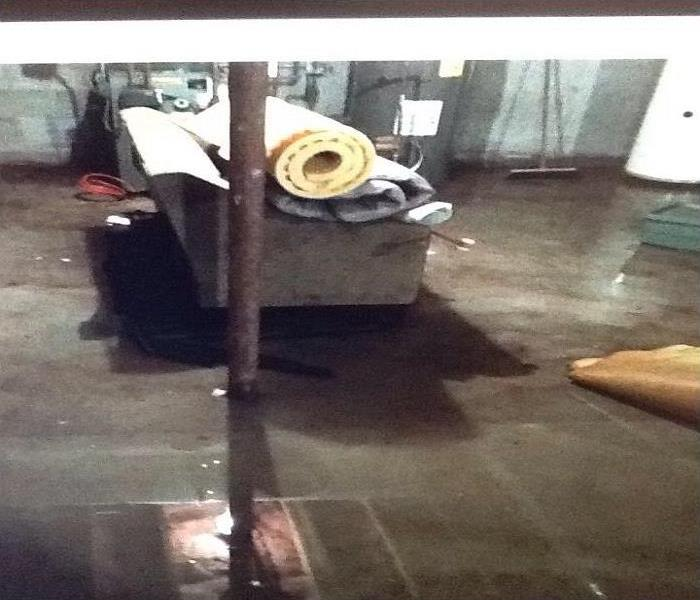 Flood Water Enters A Worcester Basement Before