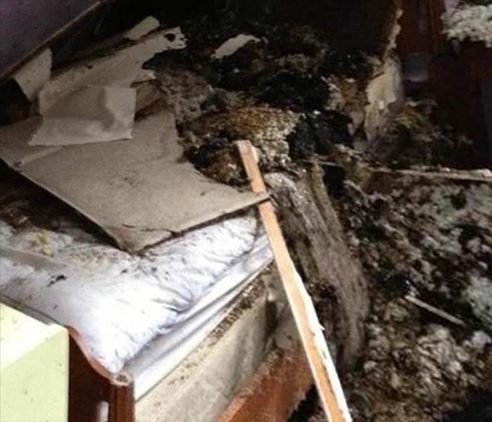 Attic Flames Cause a Mess
